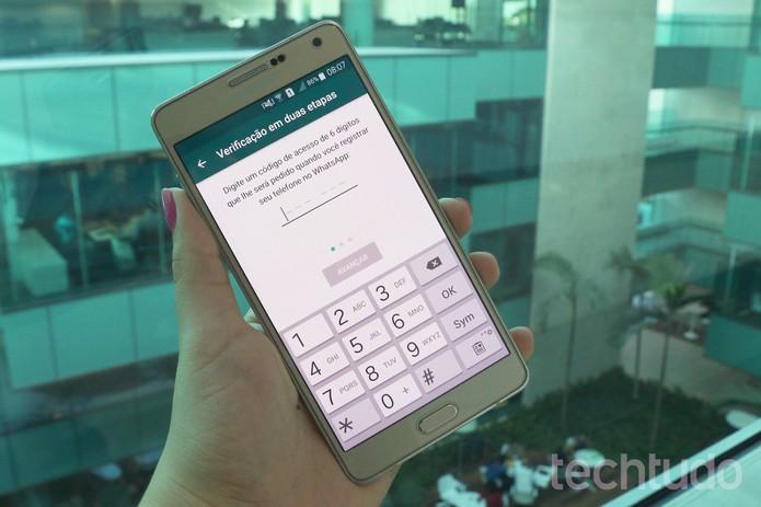 WhatsApp - Código de acesso - Aline Batista/TechTudo (Foto: Aline Batista/TechTudo)