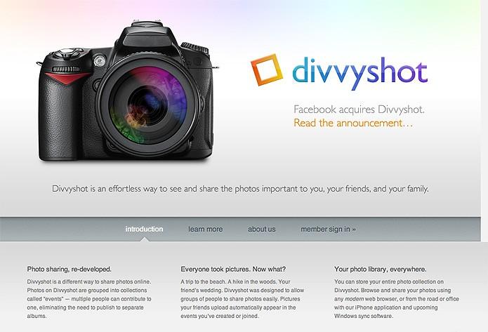 O recurso de marcação de fotos era um dos atrativos do Divvyshot, comprado em abril de 2010 (Foto: Reprodução/Mashable)