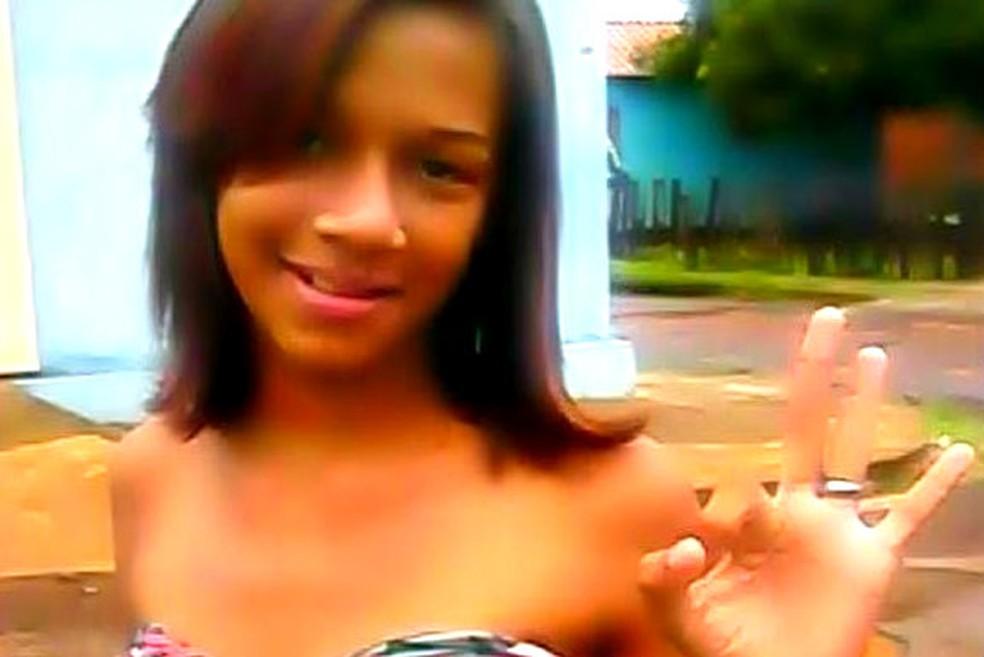 Milena Abreu foi agredida com golpes de facão (Foto: Divulgação)