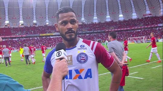 Elton diz que Bahia tomou o primeiro gol quando estava melhor que o Inter em campo
