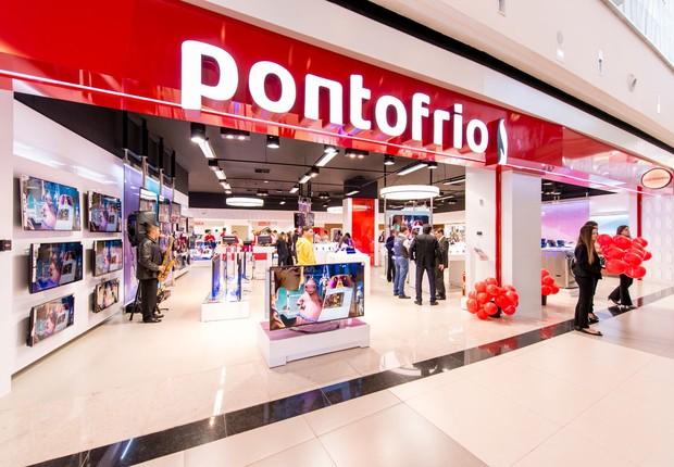 Loja da rede Ponto Frio, que pertence ao grupo Via Varejo, líder no setor de eletroeletrônicos (Foto: Divulgação)