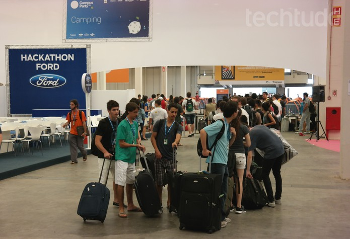 Campus Party - Visitantes chegando (Foto: Melissa Cruz / TechTudo)