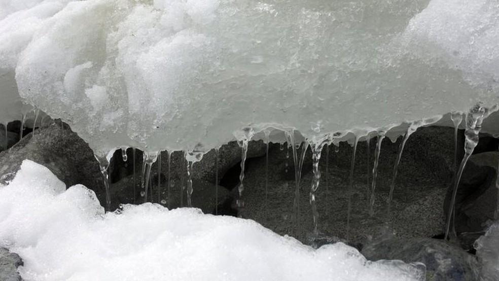 Usar dias frios para negar aquecimento global não faz sentido, indica pesquisa — Foto: BBC