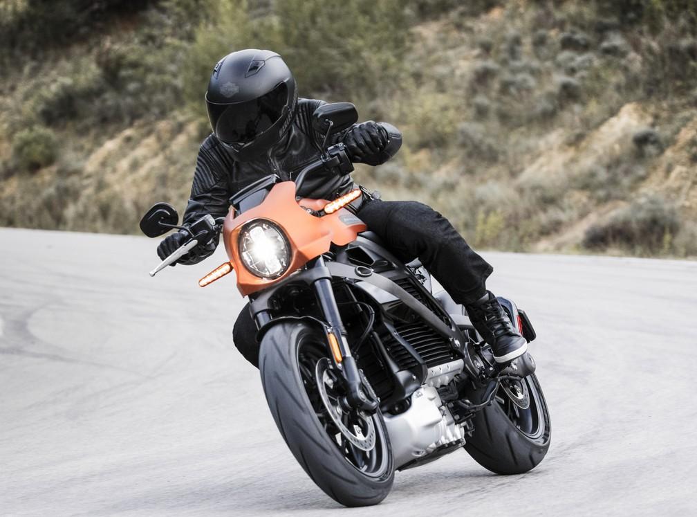 Harley-Davidson Livewire é primeiro elétrica da marca — Foto: Harley-Davidson/Divulgação