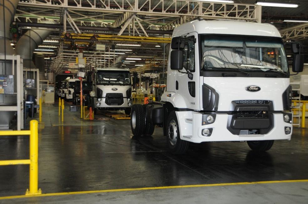 Fábrica de caminhões da Ford em São Bernardo — Foto: Divulgação