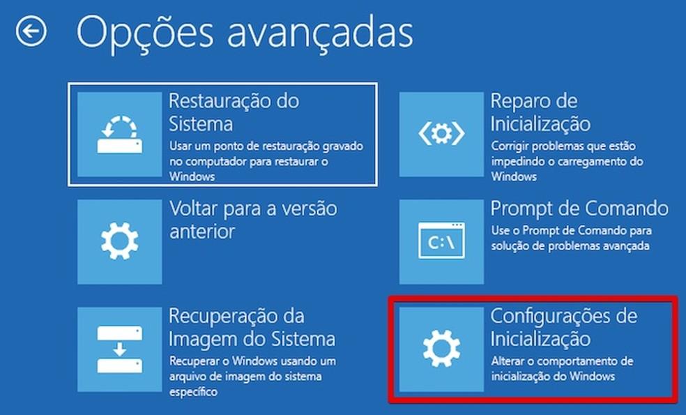 Abra as configurações de inicialização (Foto: Reprodução/Helito Bijora)