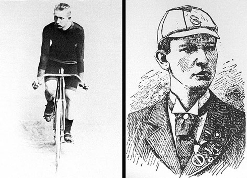 Adolf Schmal, o campeão olímpico na prova de 12h — Foto: Reprodução