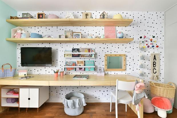 Décor do dia: quarto de menina com tons pastel e cama casinha (Foto: Sidney Doll)