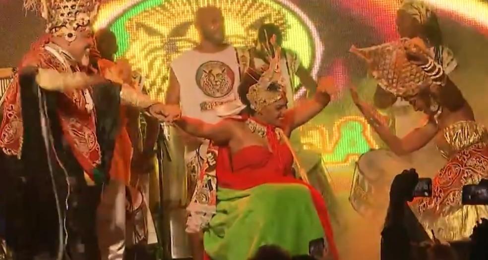 """Josy Brasil foi eleita a """"Muzembela"""" — Foto: Reprodução/TV Bahia"""