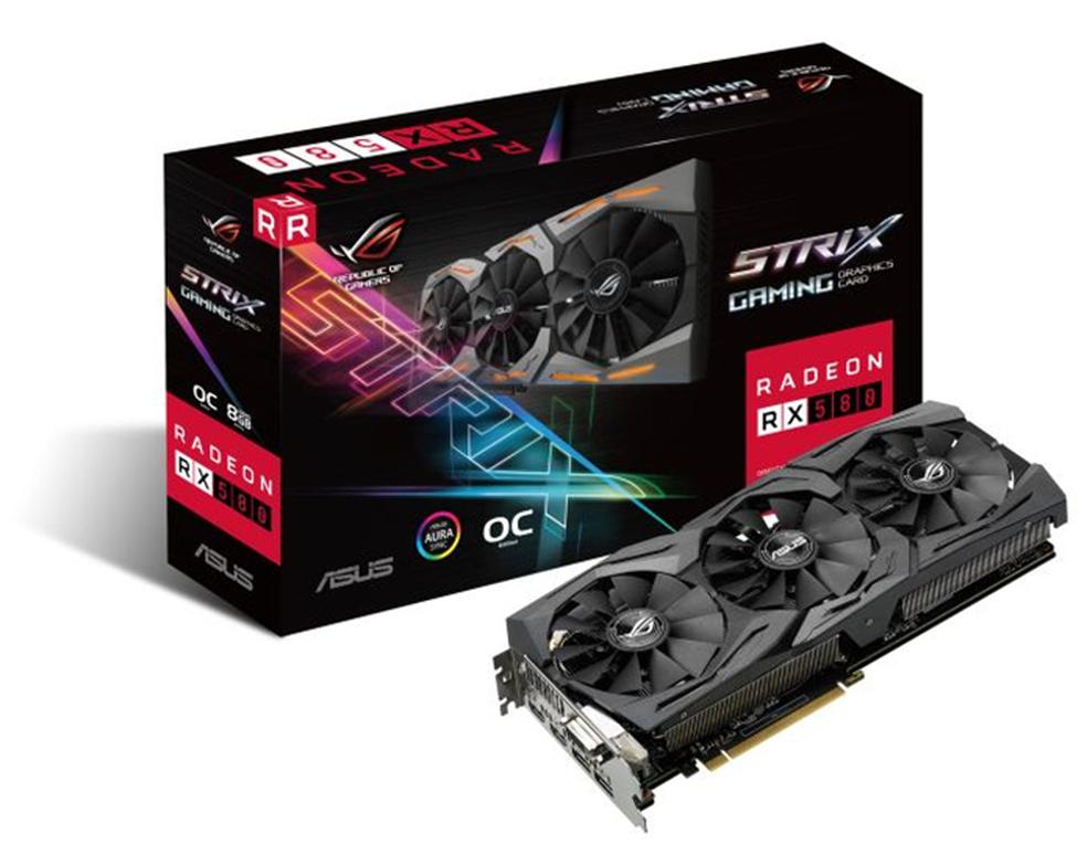 Asus Radeon RX 580 Strix é uma opção avançada para quem não abre mão de alta performance — Foto: Divulgação/Asus