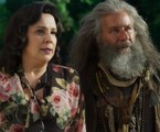 Ana Beatriz Nogueira e Leopoldo Pacheco em cena de 'O Sétimo Guardião' | TV Globo