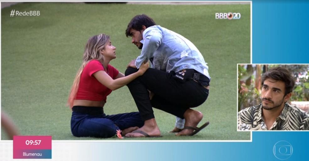 Guilherme analisa relação com Gabi no 'BBB20' — Foto: TV Globo