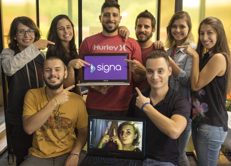 Startup brasileira de educação para surdos é finalista do mais importante prêmio de tecnologia para ensino do mundo — Foto: Marcos Gama e Darley Goulart