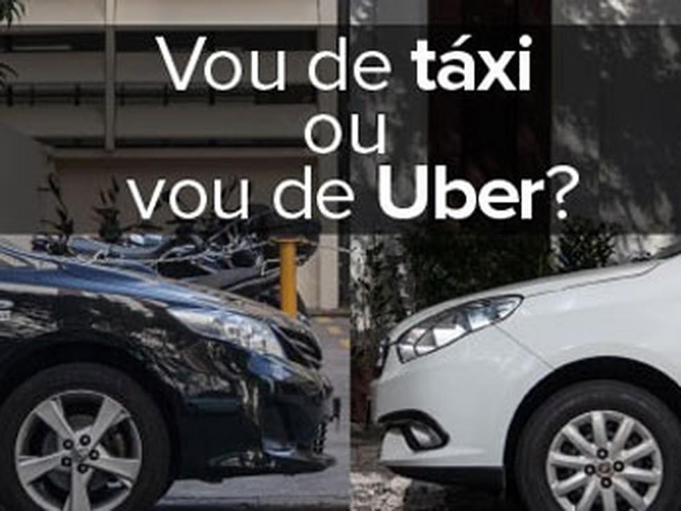 -  Taxistas buscam forma para competir clientes com Uber em Uberlândia  Foto: Divulgação/Uber
