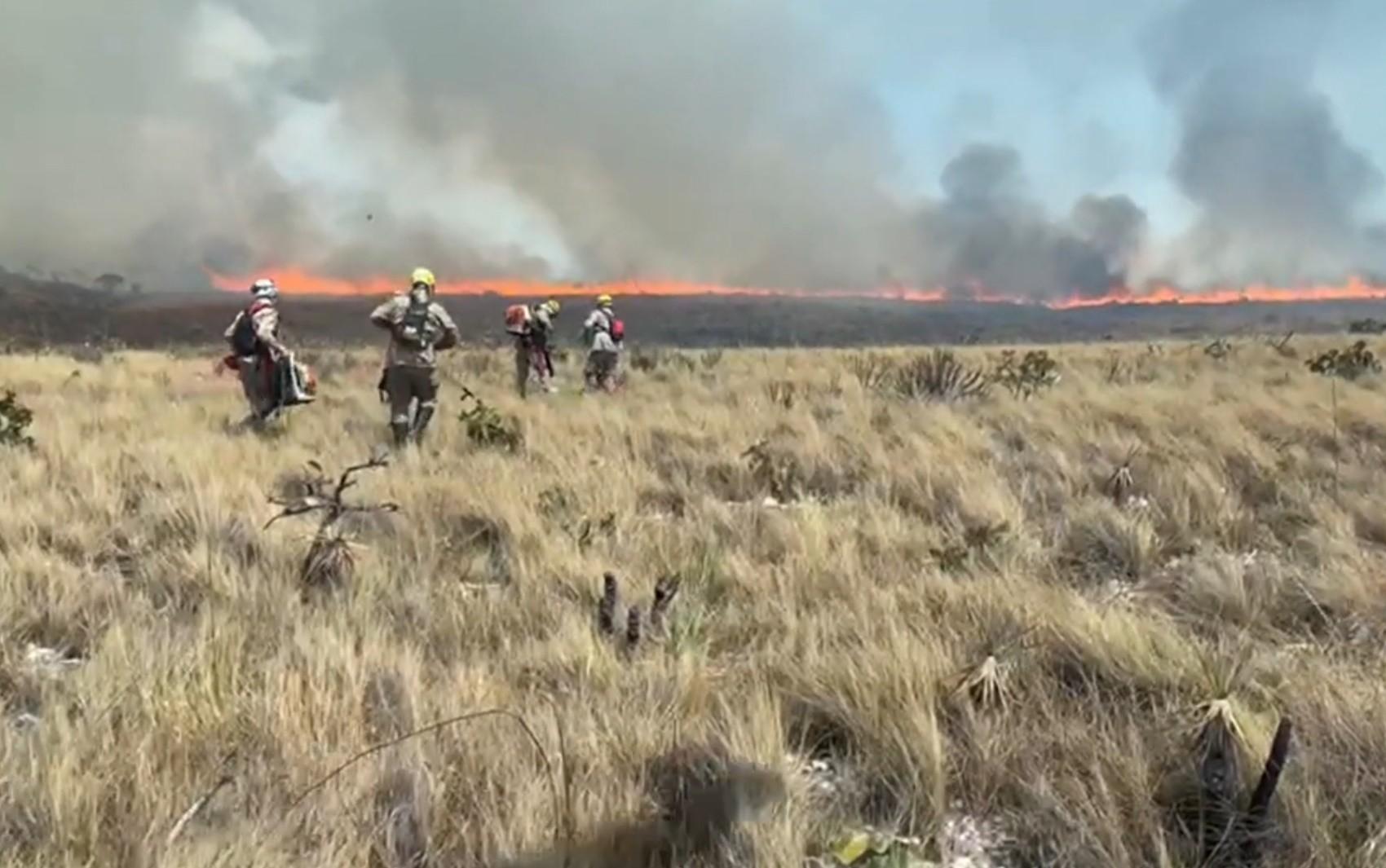 Incêndio na Chapada dos Veadeiros tem novos focos e já atinge mais de 15 mil hectares