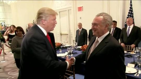 Trump recebe Temer para jantar em Nova York e diz que situação na Venezuela é 'inaceitável'