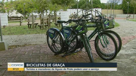 Projeto disponibiliza bicicletas para turistas e moradores gratuitamente em Águas da Prata