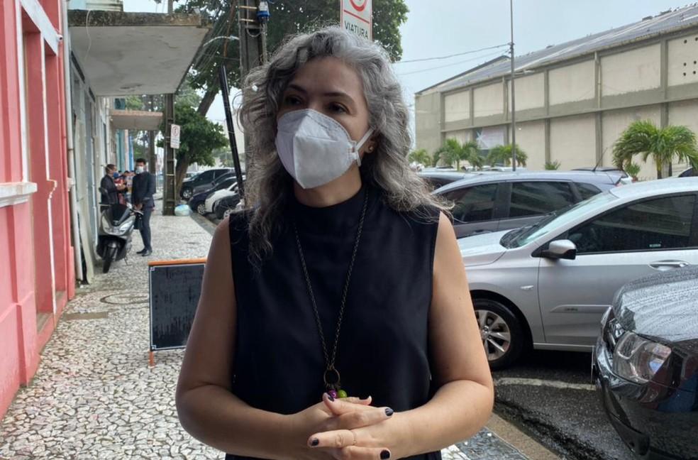 Vereadora do Recife Liana Cirne (PT) foi agredida com spray de pimenta por policiais militares — Foto: Pedro Alves/G1