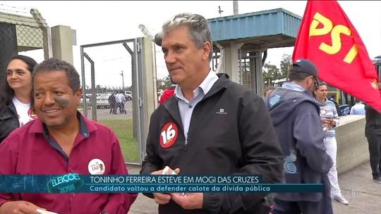 Toninho Ferreira (PSTU) fez campanha em Mogi das Cruzes