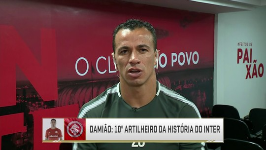 """Leandro Damião diz que ainda acredita no título do Inter: """"Enquanto tivermos chance, vamos dar o nosso melhor"""""""
