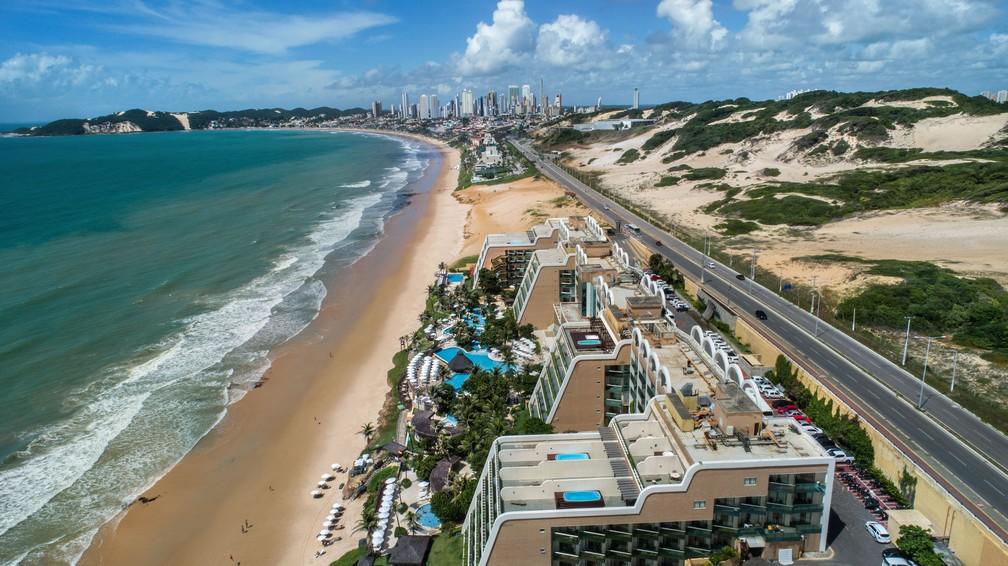 Via Costeira concentra boa parte dos leitos de hotéis em Natal — Foto: Divulgação/ABIH