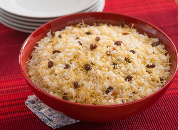 Receita de arroz de festa com champanhe, da Yoki (Foto: Divulgação)