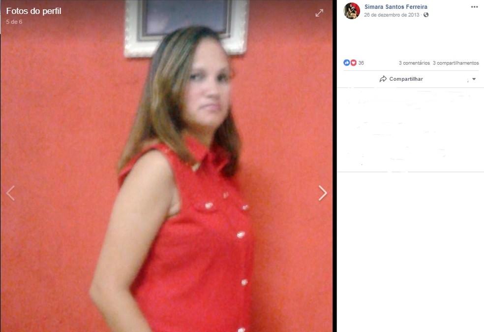 Simara Ferreira dos Santos foi encontrada morta na casa onde morava — Foto: Redes sociais