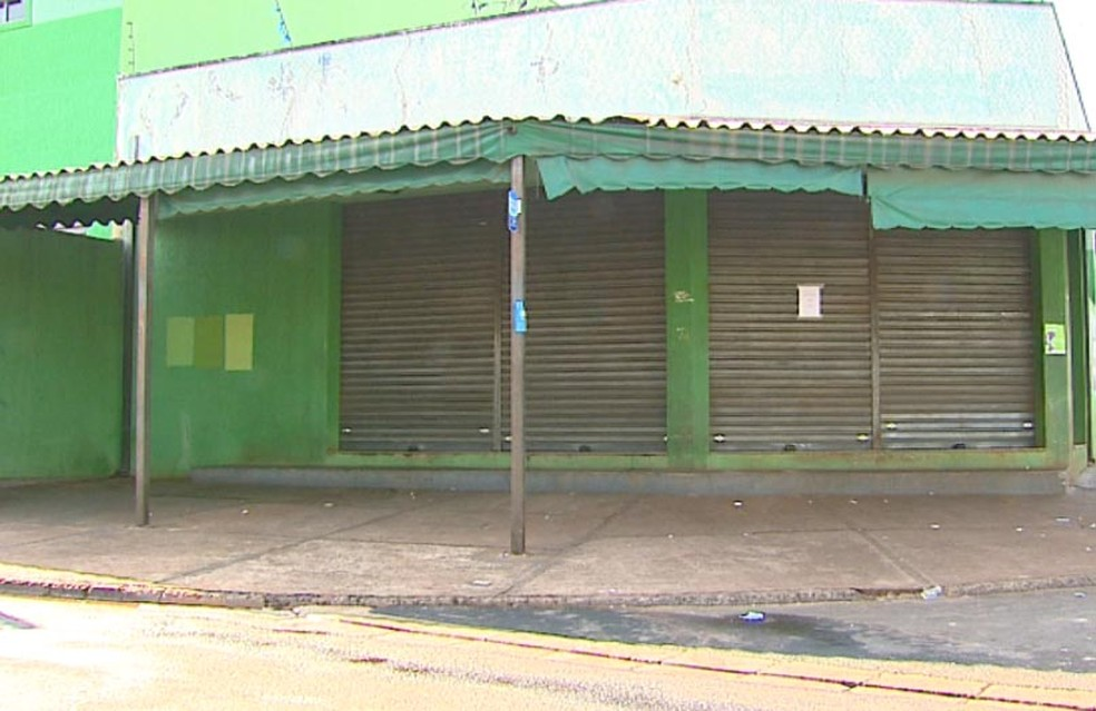 Local onde sargento foi atingido pelos disparos em Araraquara (Foto: Reginaldo dos Santos/EPTV)