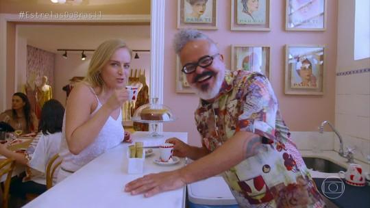 Angélica visita o estilista Ronaldo Fraga, em Belo Horizonte