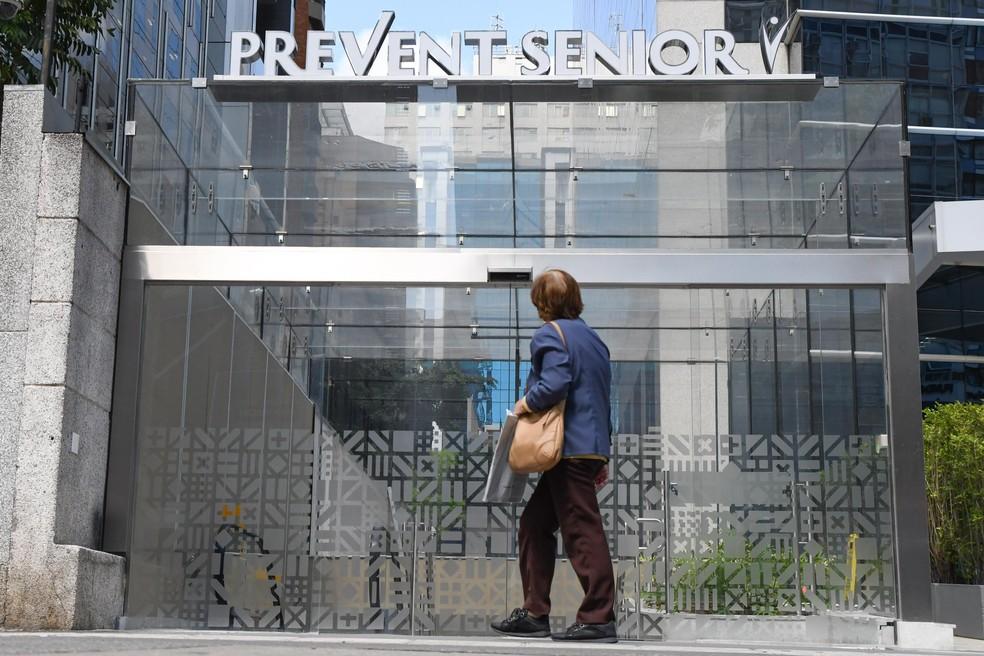 Fachada de hospital da Prevent Senior, localizado na região da Avenida Paulista, a empresa é alvo de investigação por receitar aos pacinetes (Kit Covid) uso de remédios sem eficácia contra (COVID-19), quinta feita 30. — Foto: ANDRé RIBEIRO/FUTURA PRESS/FUTURA PRESS/ESTADÃO CONTEÚDO