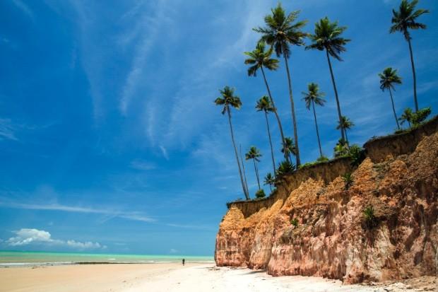 Falesias in Barra do Cahy Beach, Bahia, Brazil. february, 2017. (Foto: Getty Images/iStockphoto)