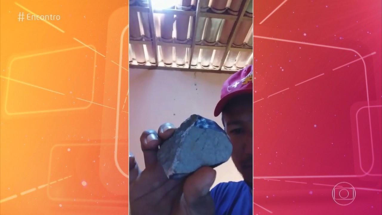 Um possível pedaço de meteorito caiu em casa do sertão de Pernambuco