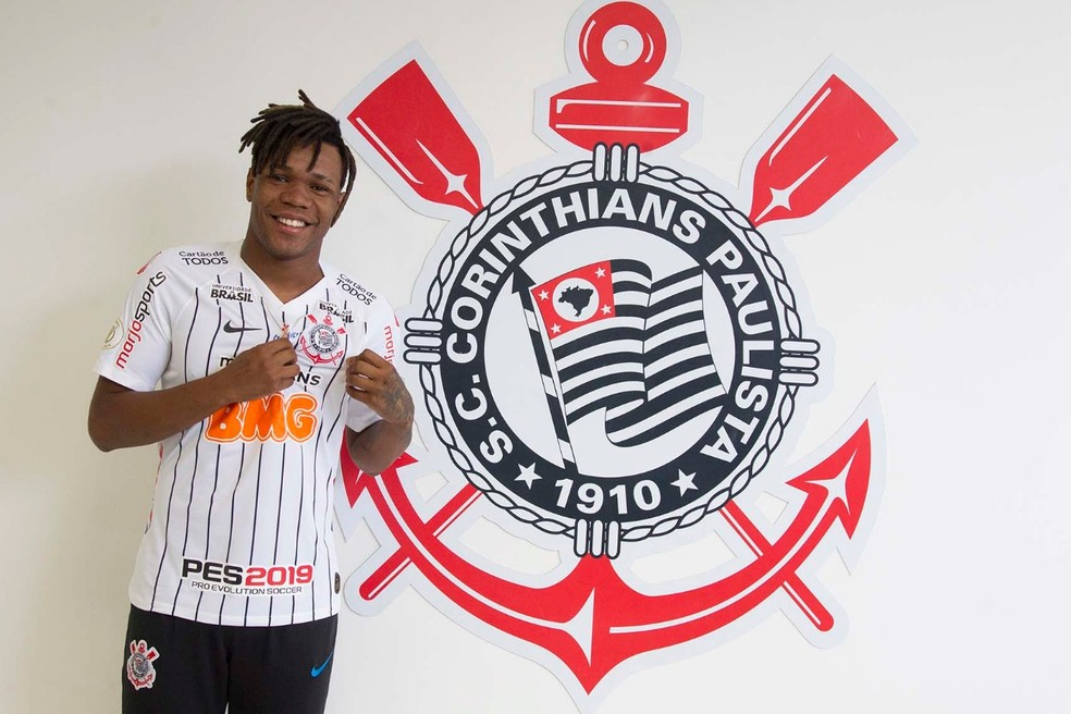 Matheus Jesus é anunciado pelo Corinthians — Foto: Daniel Augusto Jr/ Agência Corinthians