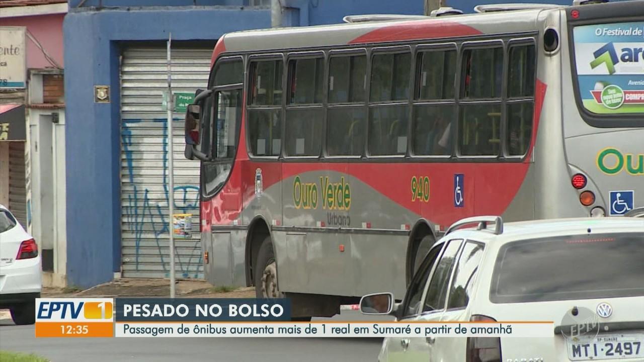Prefeitura de Sumaré aumenta o valor da tarifa de ônibus
