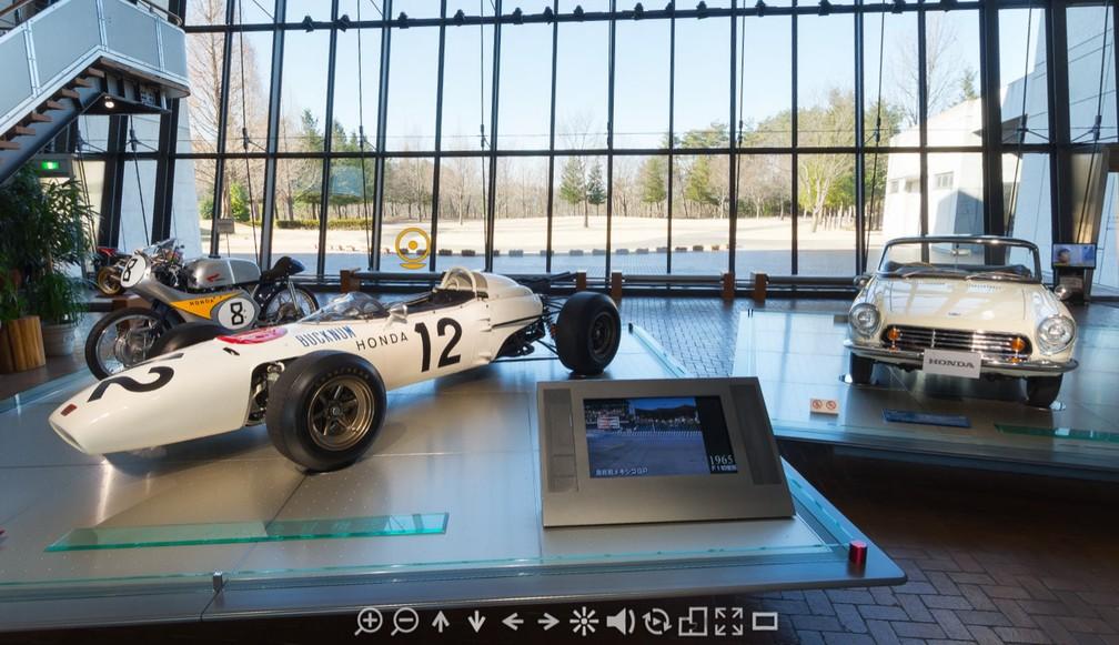 Entrada do Honda Collection Hall — Foto: Reprodução