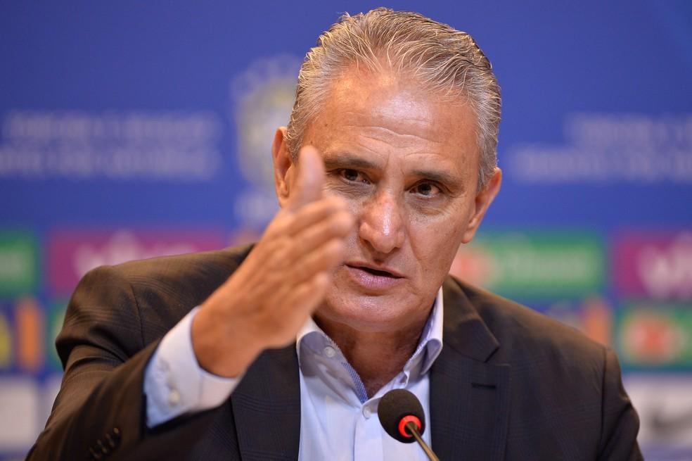 Tite anuncia a convocação da Seleção para as eliminatórias (Foto: Pedro Martins / MoWA Press)