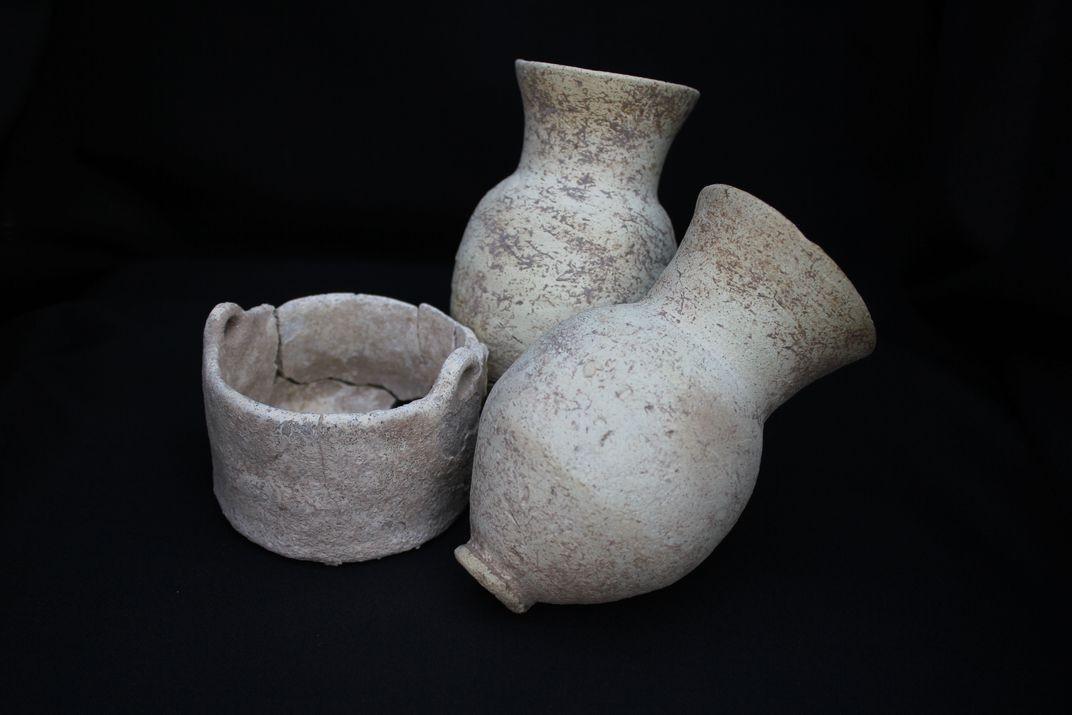 Potes antigos limpos após a escavação no Iraque (Foto: Courtesy Sirwan Regional Project)