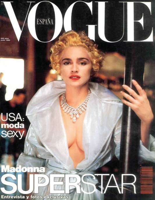 Vogue Spain Cover July 1990 - Madonna by Helmut Newton (Foto: Reprodução )