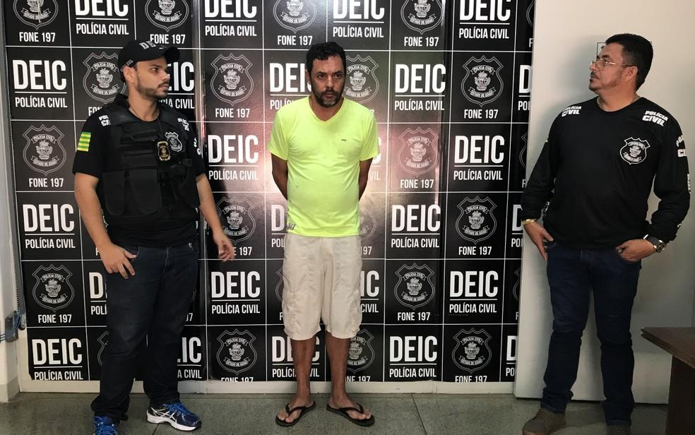 O autônomo Leandro Antonelle Vicente da Silva, de 38 anos, preso suspeito de participar da morte de advogada em Goiânia em tentativa de assalto (Foto: Vitor Santana/G1)