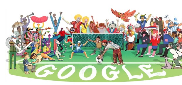 Doodle abertura Copa Rússia 2018 (Foto: Reprodução/Google)