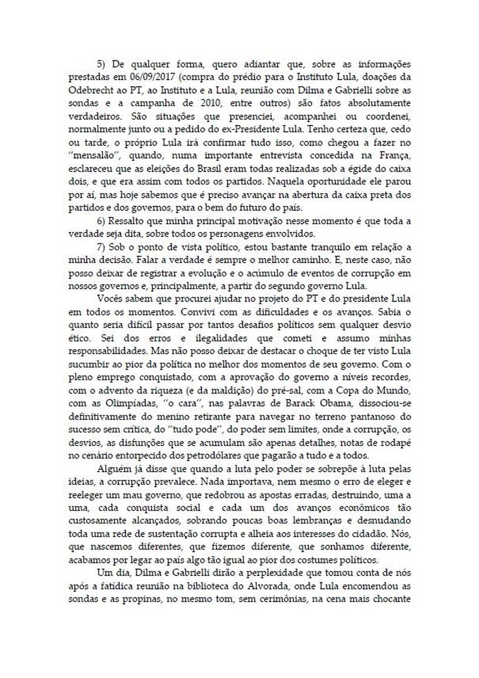 Carta Palocci 2 — Foto: Reprodução
