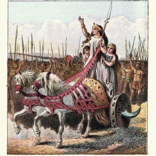 Vestida para impressionar - Boudicca sempre foi retratada como uma guerreira destemida (Foto: Getty Images via BBC News)