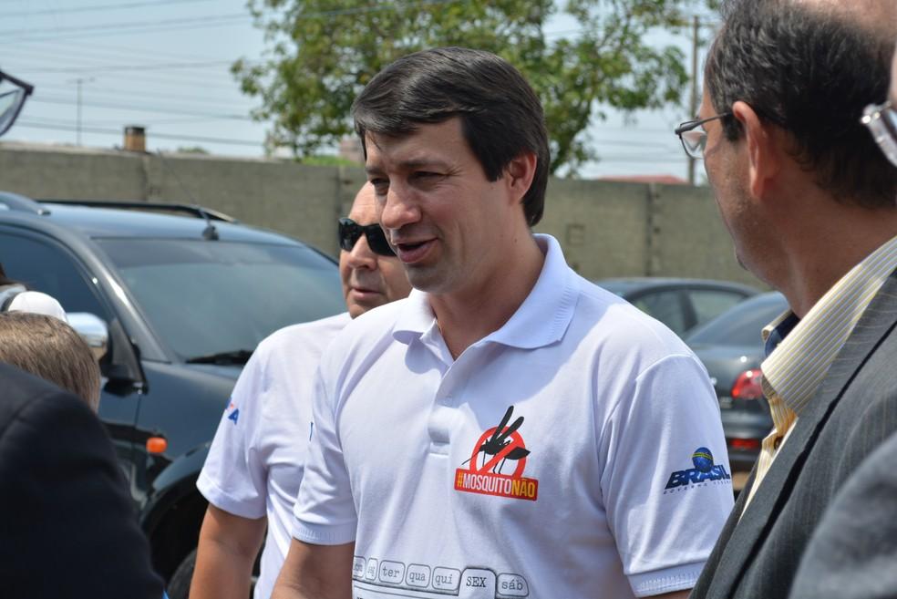 Ministro Eumar Novacki participou de evento em Porto Velho — Foto: Matheus Henrique/G1