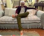 Moacyr Franco em sua casa em São Paulo | Divulgação