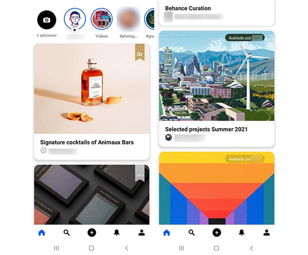 Faça seu portfólio com o app Behance — Foto: Reprodução/Marcela Franco