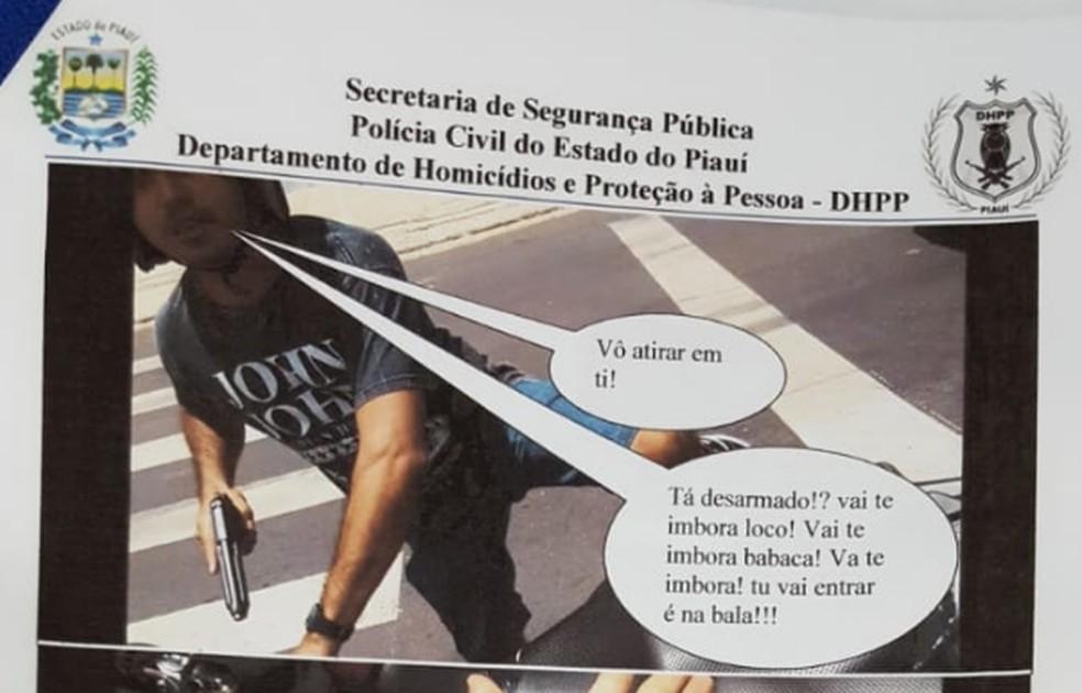 Policial filmou o próprio assassinato.  — Foto: Divulgação/Polícia Civil
