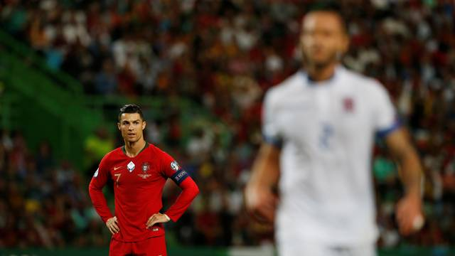 Cristiano Ronaldo em Portugal x Luxemburgo