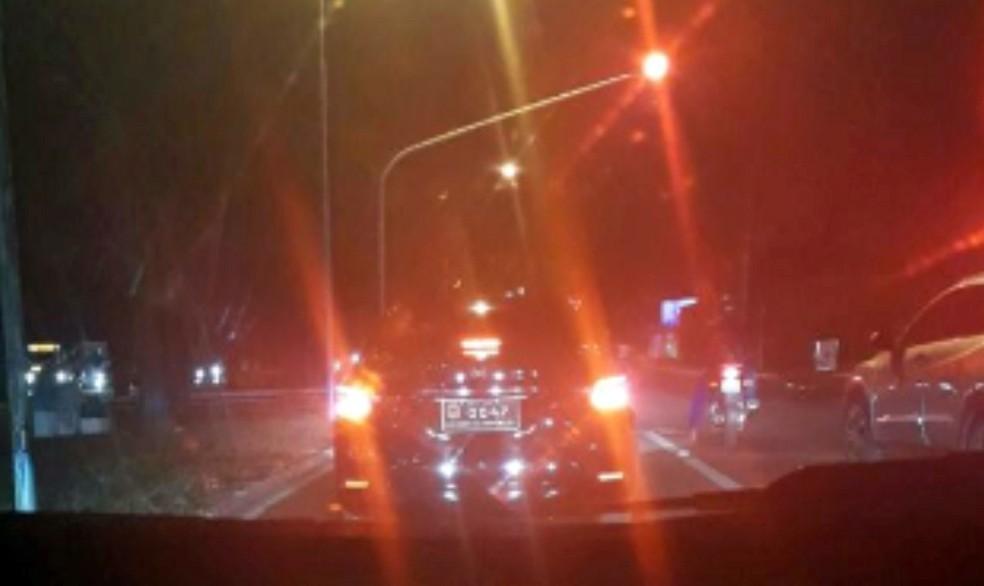 Imagem mostra monitoramento do carro oficial do senador Garibaldi Alves Filho (PMDB-RN) (Foto: Reprodução)