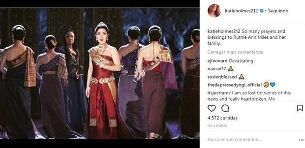 Katie Holmes lamenta acidente de Ruthie Ann Miles, que matou duas crianças (Foto: Reprodução/Instagram)