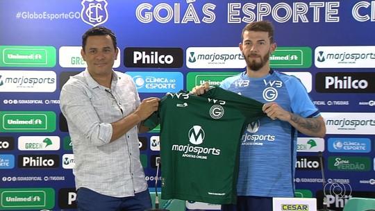 Luiz Gustavo é apresentado e promete melhorar números do sistema defensivo do Goiás